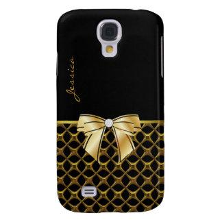 Chic Black & Gold Tone Samsung Galaxy S4 Case