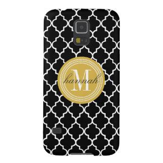 Chic Black Moroccan Lattice Personalized Case For Galaxy S5