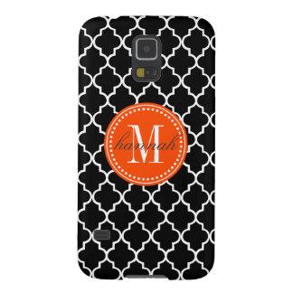 Chic Black Moroccan Lattice Personalized Galaxy S5 Cover