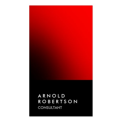 Chic black red unique professional business card
