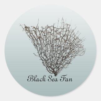 Chic Black Sea Fan Pattern Stickers