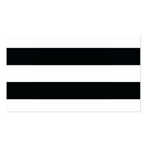 Chic Black Stripes Guest Escort Cards Business Cards