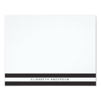 Chic Black Stripes  Personalized Stationery Cards