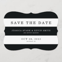 Chic Black Stripes Save the Date