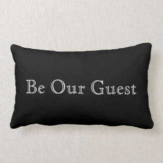 Chic Black & White | Be Our Guest Lumbar Pillow