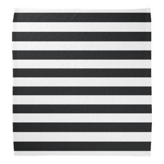 Chic Black & White Stripes Bandana