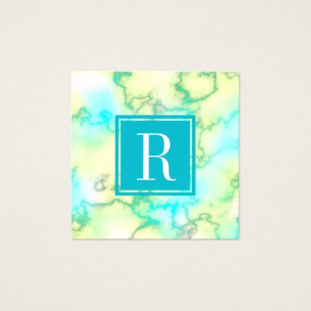 Modern Feminine Aqua Blue Watercolor Marble Accounting and Finance Consultant Business Cards Template