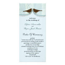 Chic blue bird cage, love birds wedding programs