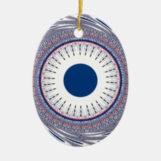 Chic  blue ceramic ornament