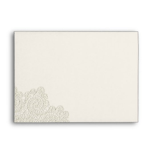 Chic Blue Denim & Ivory Lace Wedding Envelope