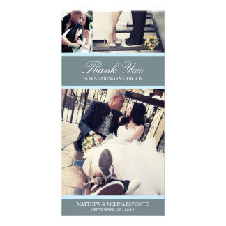CHIC BLUE GRATITUDE | WEDDING THANK YOU CARD