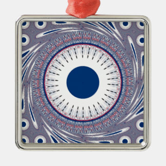 Chic  blue metal ornament