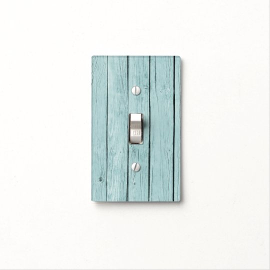 Rustic Light Switch Covers Entrancing Chic Blue Rustic Faux Wood Light Switch Cover  Zazzle 2017
