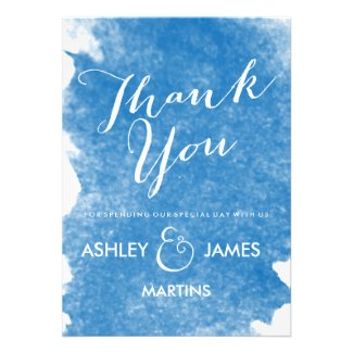BLUE WATERCOLOR THANK YOU CARDS