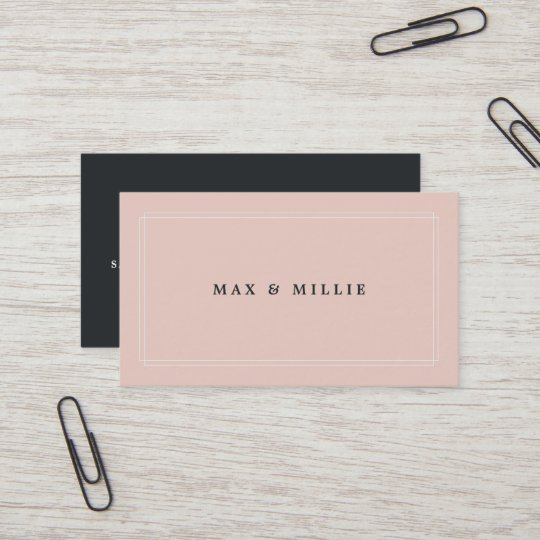 Chic Blush | Boutique Store Manager Business Card