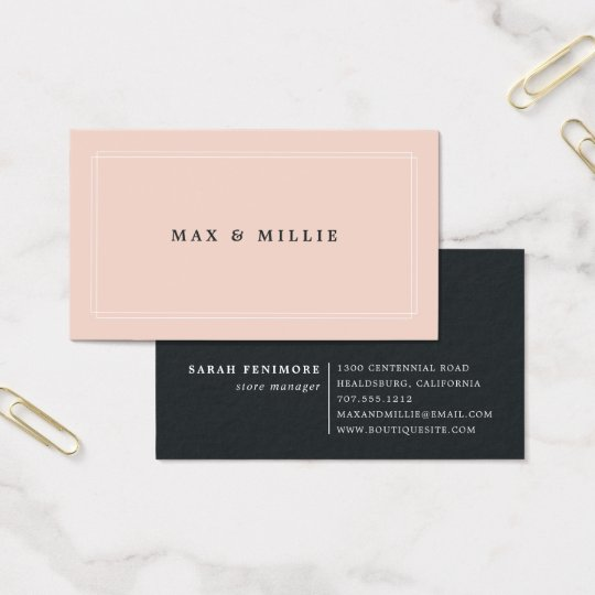 Chic blush boutique store manager business card zazzle chic blush boutique store manager business card colourmoves