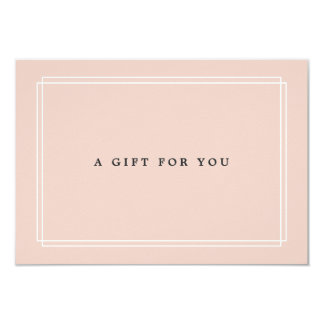 Chic Blush | Gift Certificate Card