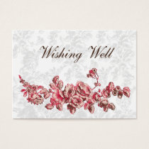 Chic Blush Pink Vintage Floral Wedding Business Card