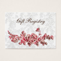 Chic Blush Pink Vintage Floral Wedding Business Card