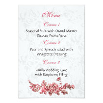 Chic Blush Pink Vintage Floral Wedding Card