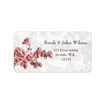 Chic Blush Pink Vintage Floral Wedding Label