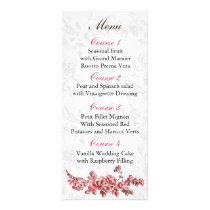 Chic Blush Pink Vintage Floral Wedding Rack Card