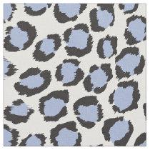 Chic bold light blue cheetah print pattern fabric