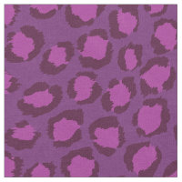 Chic bold orchid purple cheetah print pattern fabric