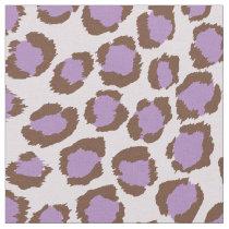 Chic bold purple brown white cheetah print pattern fabric