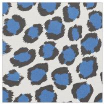 Chic bold teal blue cheetah print pattern fabric
