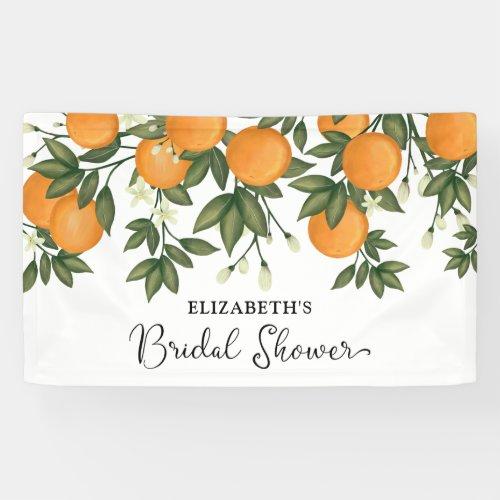 Chic Botanical Citrus Summer Bridal Shower Welcome Banner