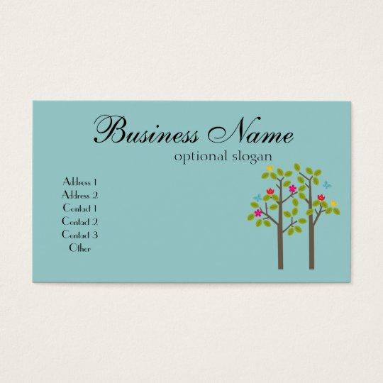 Chic Boutique Blue Business Card