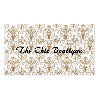 Chic Boutique Damask Business Card