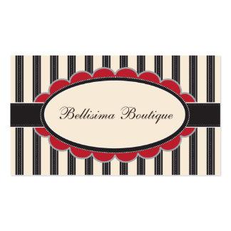 Chic Boutique Designer Business Cards: crimson Business Card