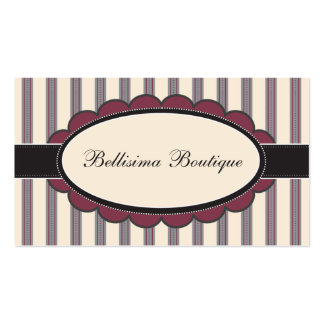 Chic Boutique Designer Business Cards: lilac Business Card