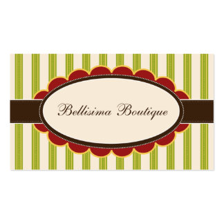 Chic Boutique Designer Business Cards: lime Business Card