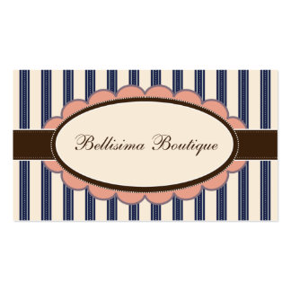 Chic Boutique Designer Business Cards: navy Business Card