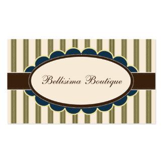 Chic Boutique Designer Business Cards: olive Business Card