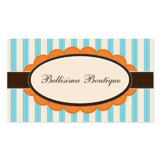 Chic Boutique Designer Business Cards: orange/blue Business Card