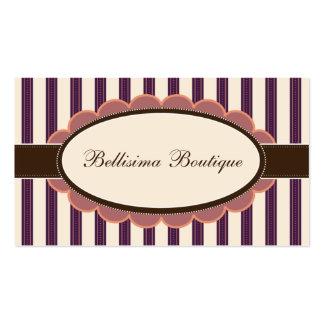 Chic Boutique Designer Business Cards: purple