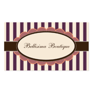 Chic Boutique Designer Business Cards: purple Business Card