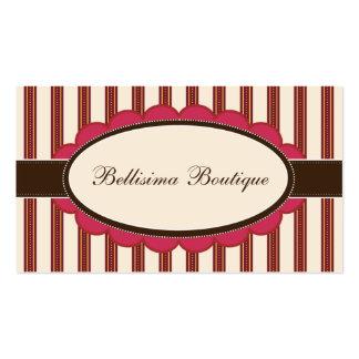 Chic Boutique Designer Business Cards: rose Business Card