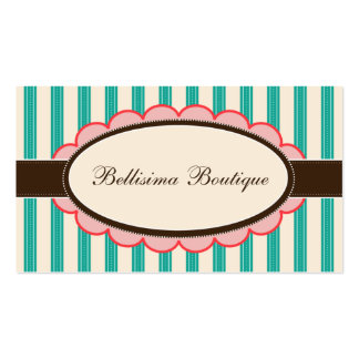 Chic Boutique Designer Business Cards: Teal Business Card