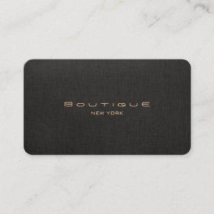 chic boutique faux black linen professional unique business card - Unique Business Cards