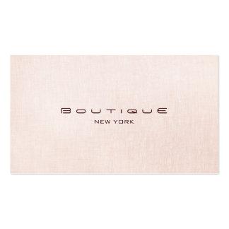 Chic Boutique Faux Light Pink Linen Business Card