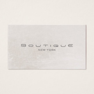 Chic Boutique Faux Off White Pearl Shimmer Business Card