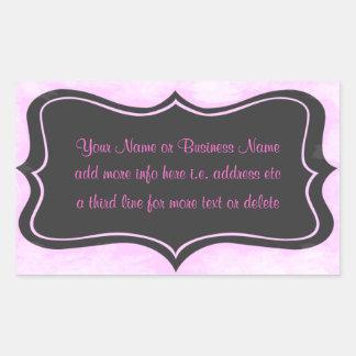 Chic Boutique Pink, Charcoal Gray Rectangular Stic Rectangular Sticker