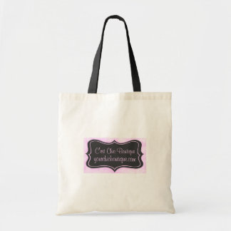 Chic Boutique Pink, Charcoal Gray Tote Bag