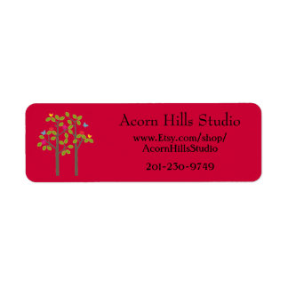 Chic Boutique Red Return Address Label