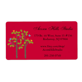 Chic Boutique Red Shipping Label